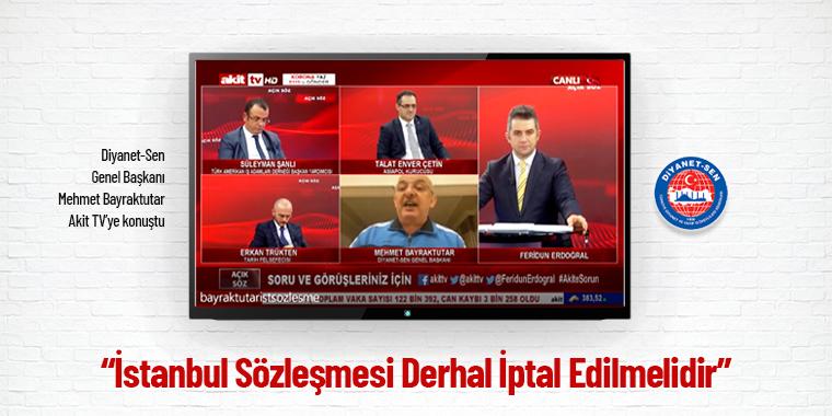 İstanbul Sözleşmesi Derhal İptal Edilmelidir