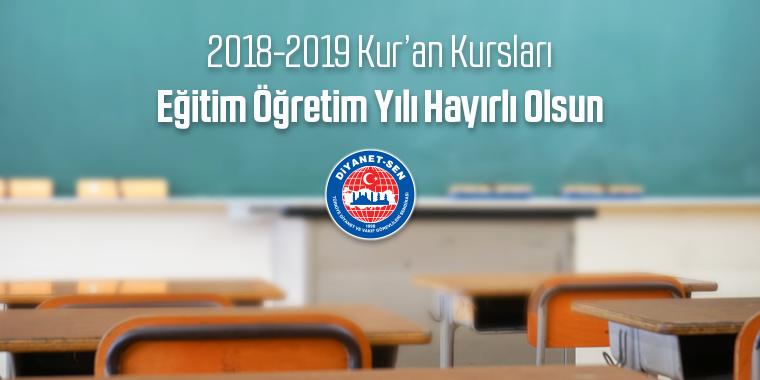 2018-2019 Kur'an Kursları Eğitim Öğretim Yılı Hayırlı Olsun
