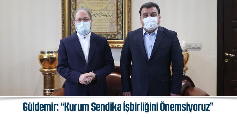 """DİB Başkanı Erbaş'ı Ziyaret Eden Güldemir: """"Kurum Sendika İşbirliğini Önemsiyoruz"""""""