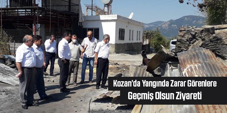 Kozan'da Yangında Zarar Görenlere Geçmiş Olsun Ziyareti