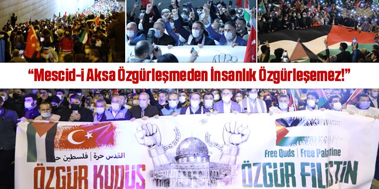 Ankara'da Binlerce Kudüs Sevdalısı Terörist Devlet İsrail'i ve İşgal Girişimini Lanetledi!