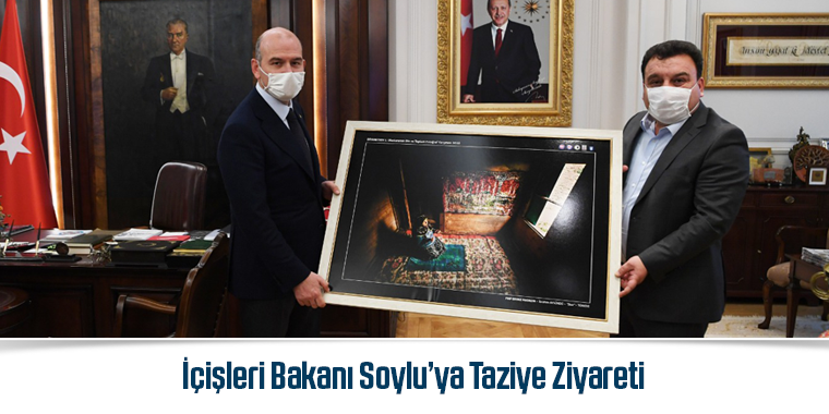 İçişleri Bakanı Soylu'ya Taziye Ziyareti