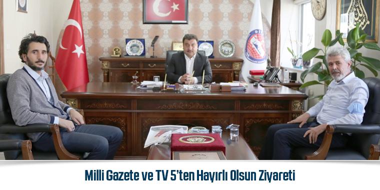Milli Gazete ve TV 5'ten Hayırlı Olsun Ziyareti