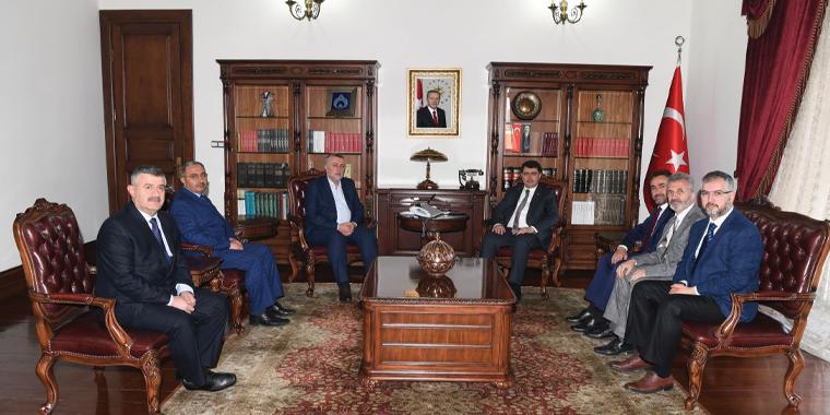 Vali Vasip Şahin'e Ziyaret